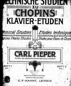 Technische Studien zu Chopins Klavier-Etuden