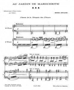 Au-Jardin-de-Marguerite-Choeur-de-la-Dispute-des-Fleurs-transcribed-for-two-pianos