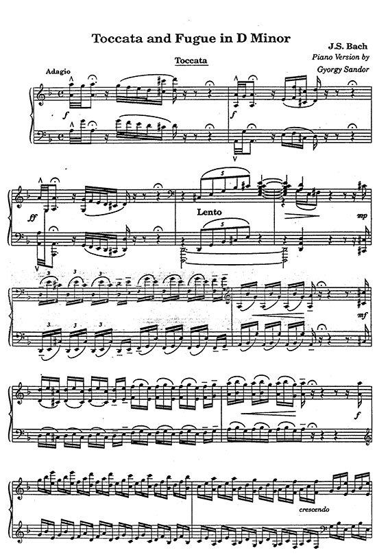a study on toccata and fugue Johann sebastian bach (composer 1685-1750) - play streams in full or download mp3 from classical archives  toccata and fugue in d-, bwv565 (famous organ work.