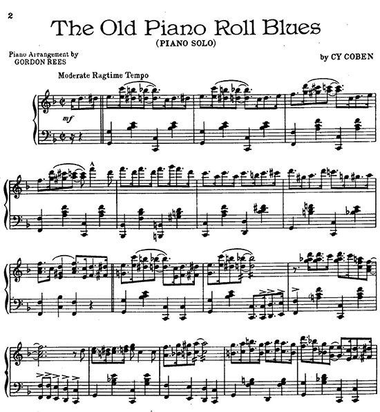All That Jazz Sheet Music Piano: Old-Piano-Roll-Blues-by-Cy-Coben