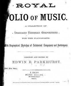 Royal Folio of Music